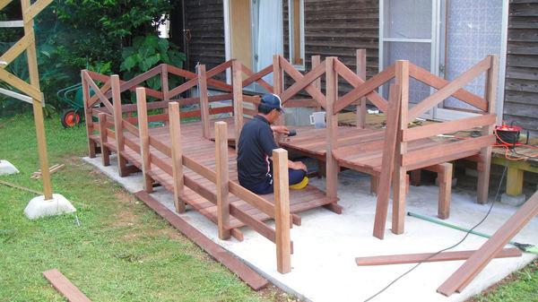 床板、ヨコ板、クロスバー設置